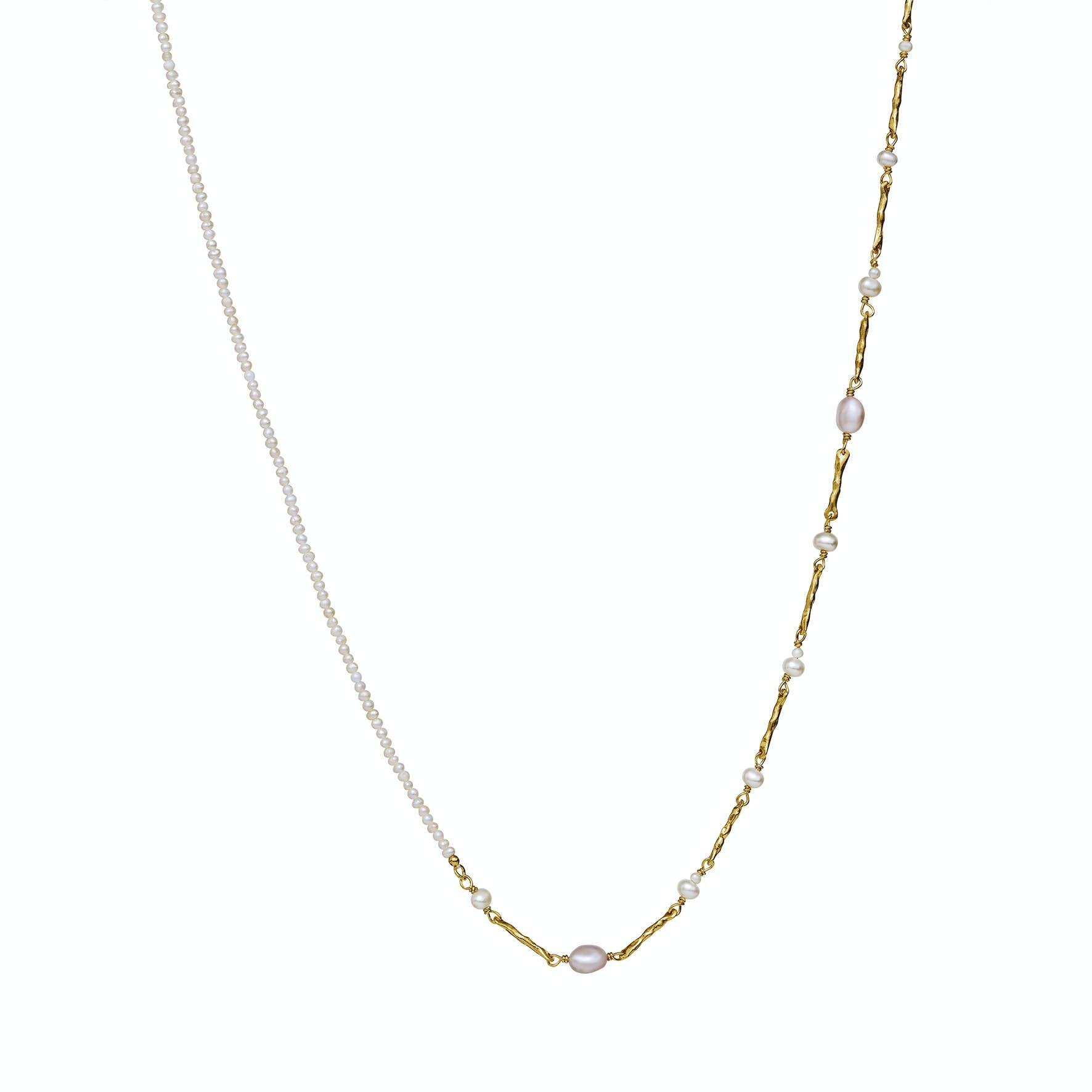 Macy Necklace från Maanesten i Förgyllt-Silver Sterling 925 Freshwater Pearl 