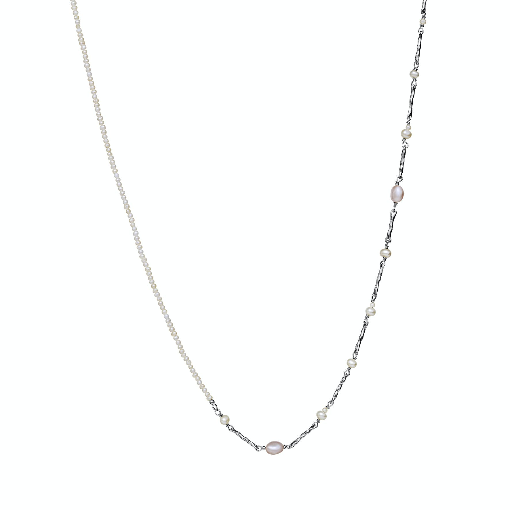 Macy Necklace fra Maanesten i Sølv Sterling 925|Freshwater Pearl|