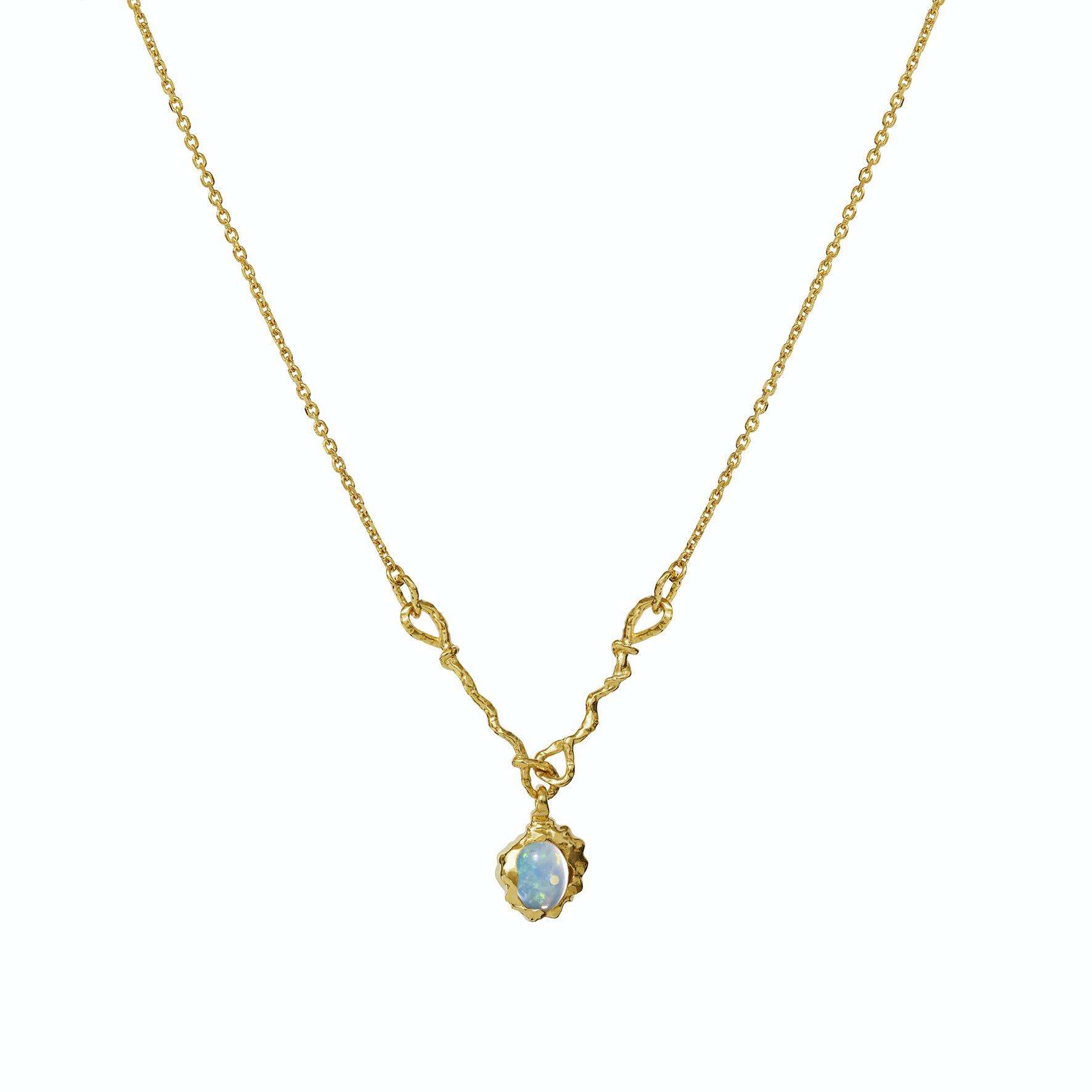 Phoenix Necklace fra Maanesten i Forgyldt-Sølv Sterling 925