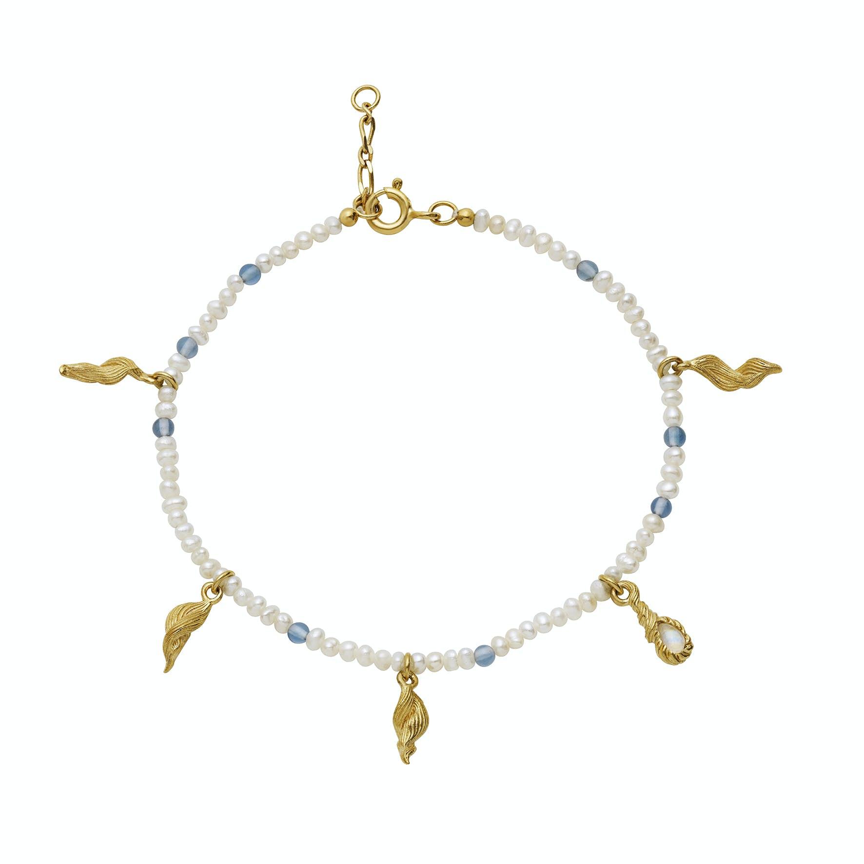 Aqua Bracelet from Maanesten in Goldplated-Silver Sterling 925