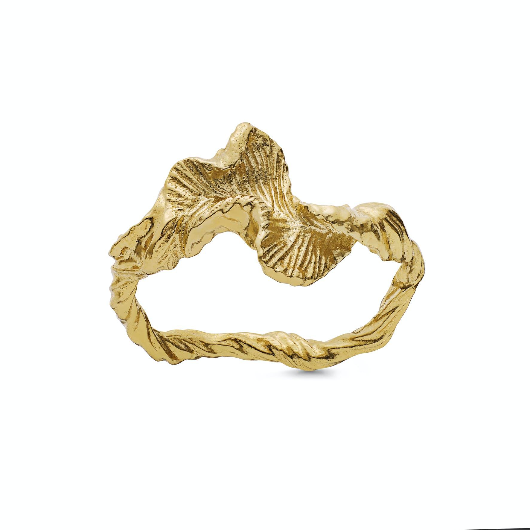 Nino Ring fra Maanesten i Forgylt-Sølv Sterling 925