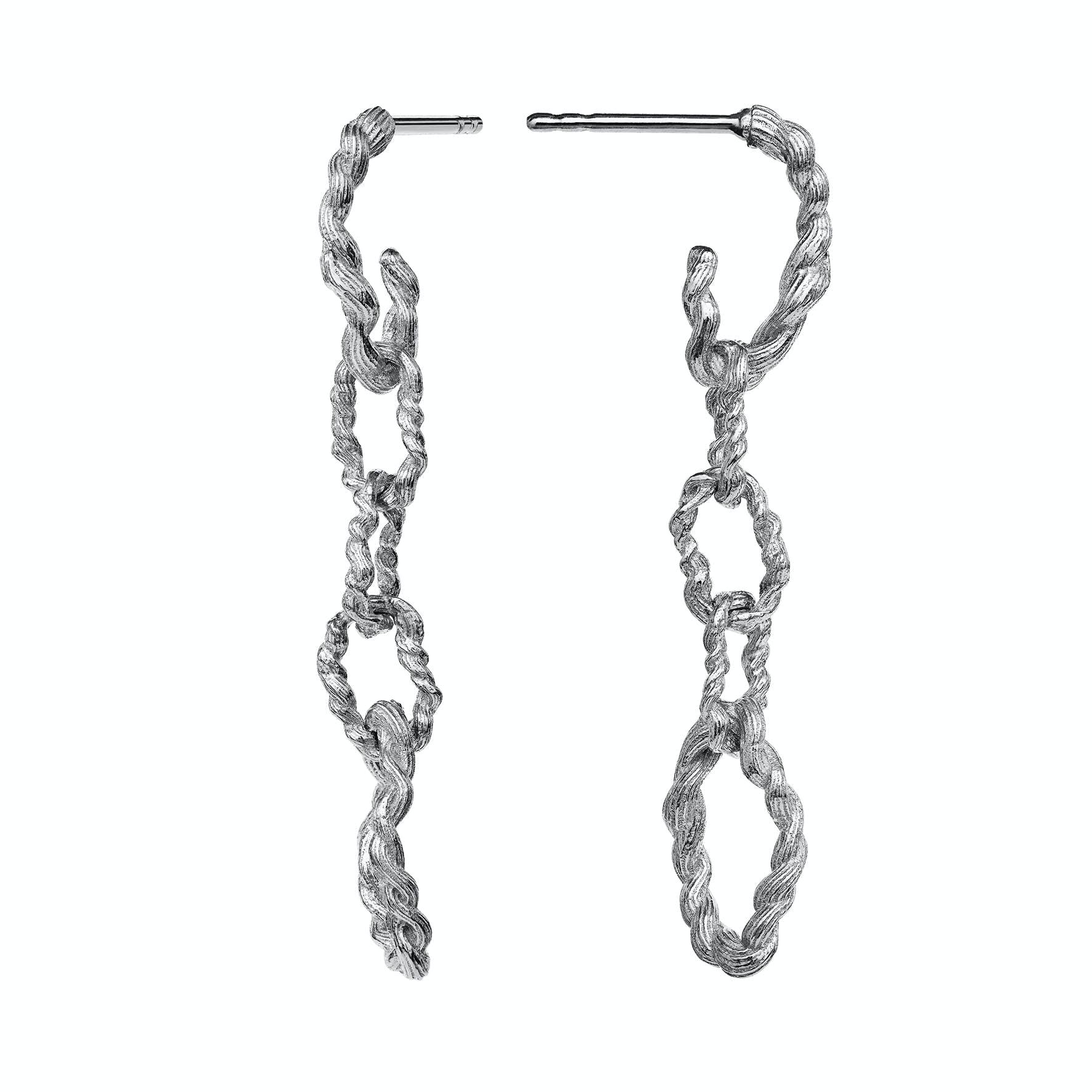 Fahima Earrings von Maanesten in Silber Sterling 925