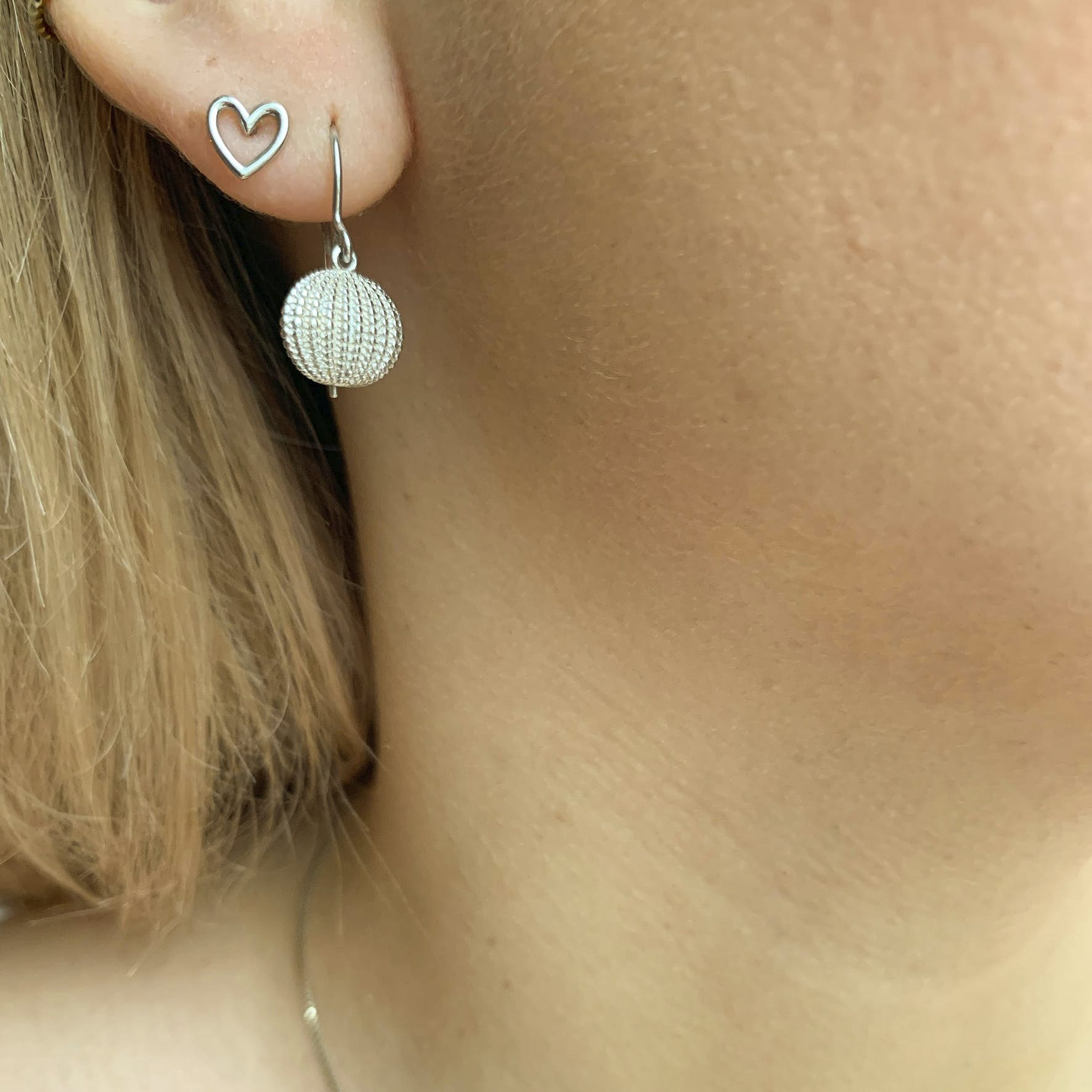 Love Charity Earsticks from Izabel Camille in Silver Sterling 925
