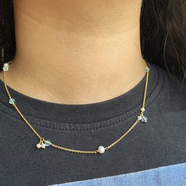 Paradise Necklace från Izabel Camille i Silver Sterling 925|Aqua Blue