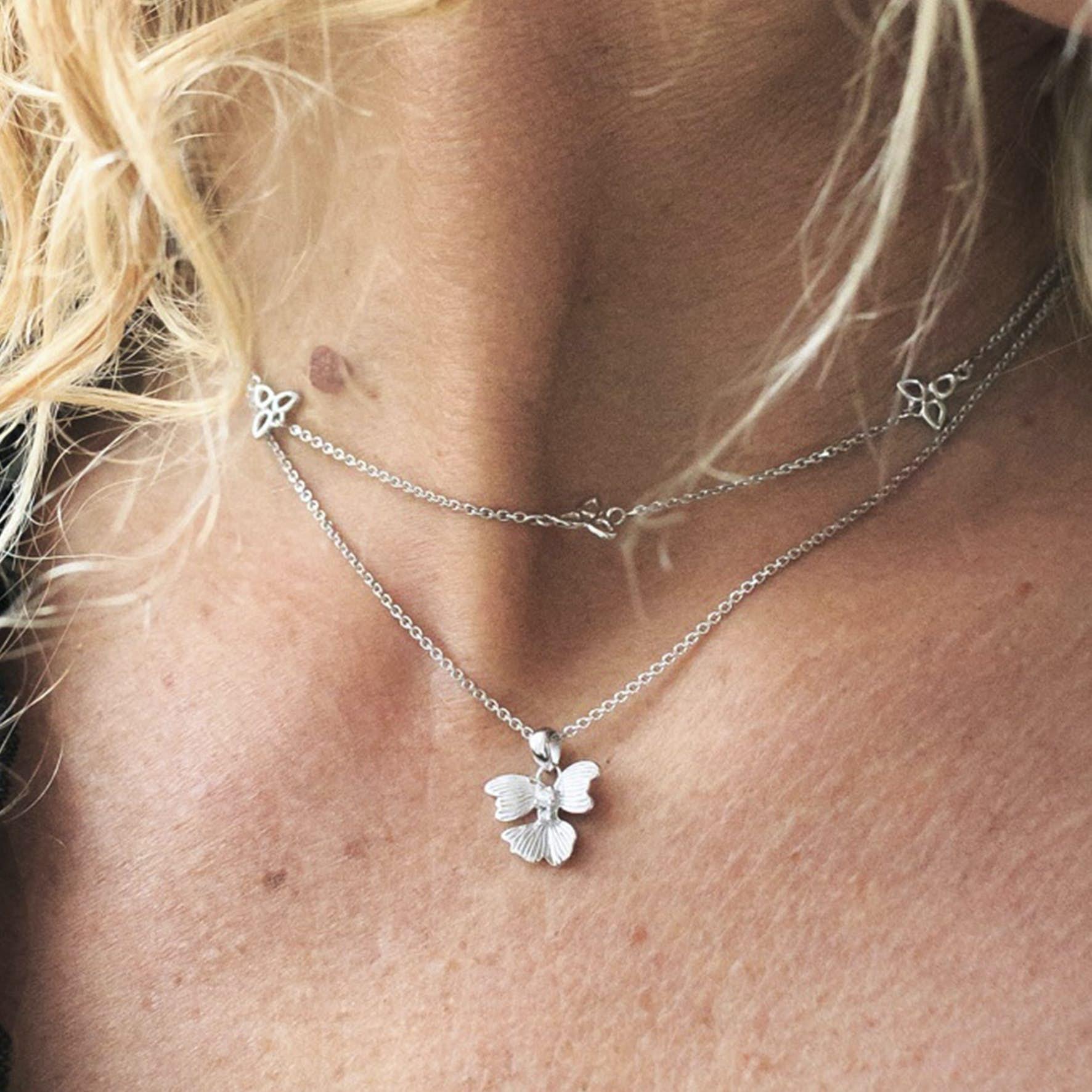 Violet Necklace von Izabel Camille in Silber Sterling 925