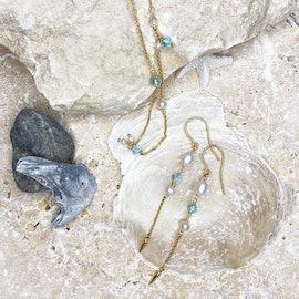 Paradise Earrings Aqua Blue