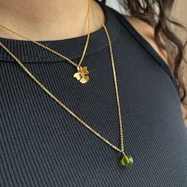 Marble Pendant Peridot Green från Izabel Camille i Förgyllt-Silver Sterling 925