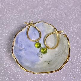 Marble Pendant Peridot Green