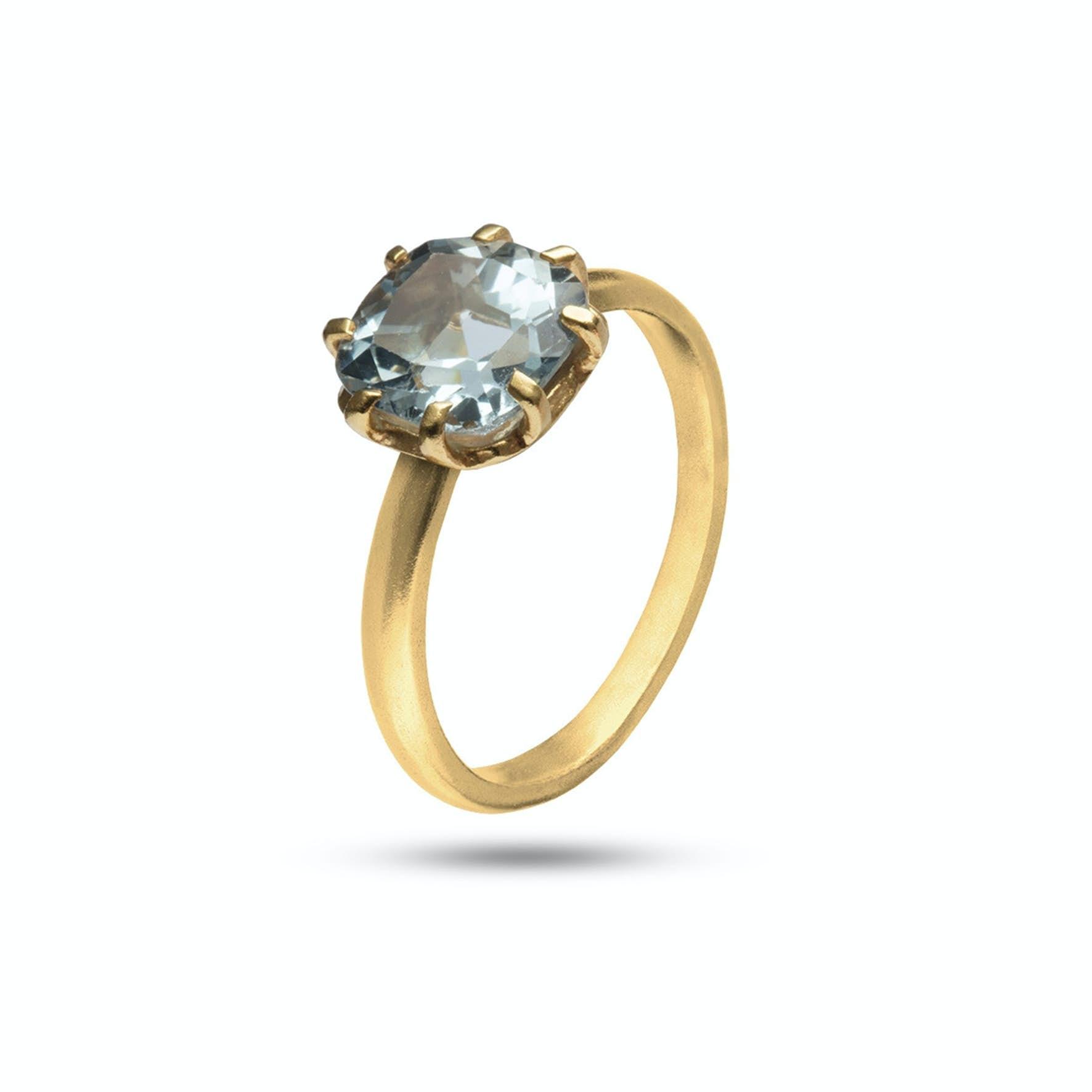 Gem Candy Ring Topaz från Carré i Förgyllt-Silver Sterling 925|