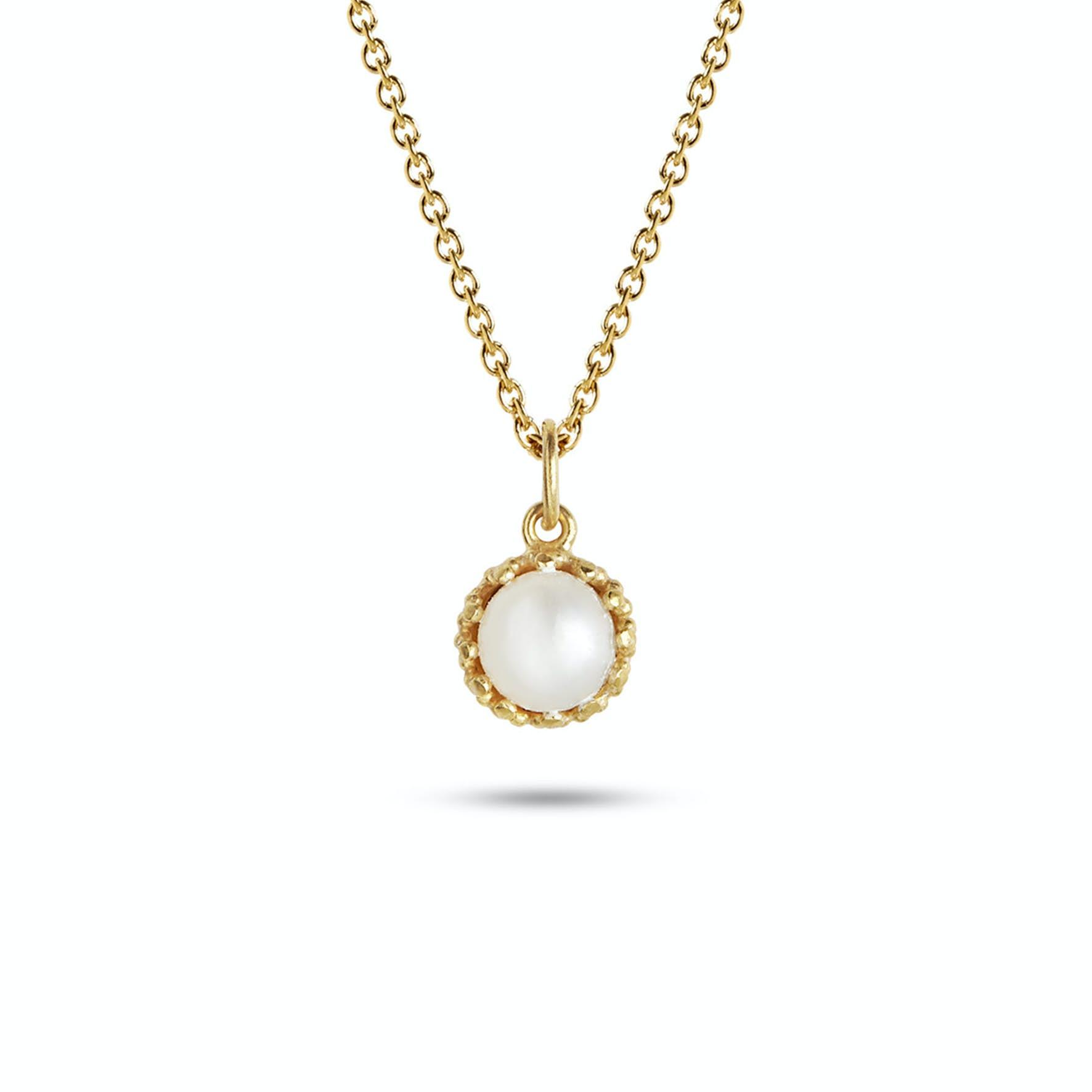 Gilded Marvels Pendant Pearl fra Carré i Forgyldt-Sølv Sterling 925|Freshwater Pearl