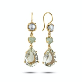 Gem Candy Earrings Aqua