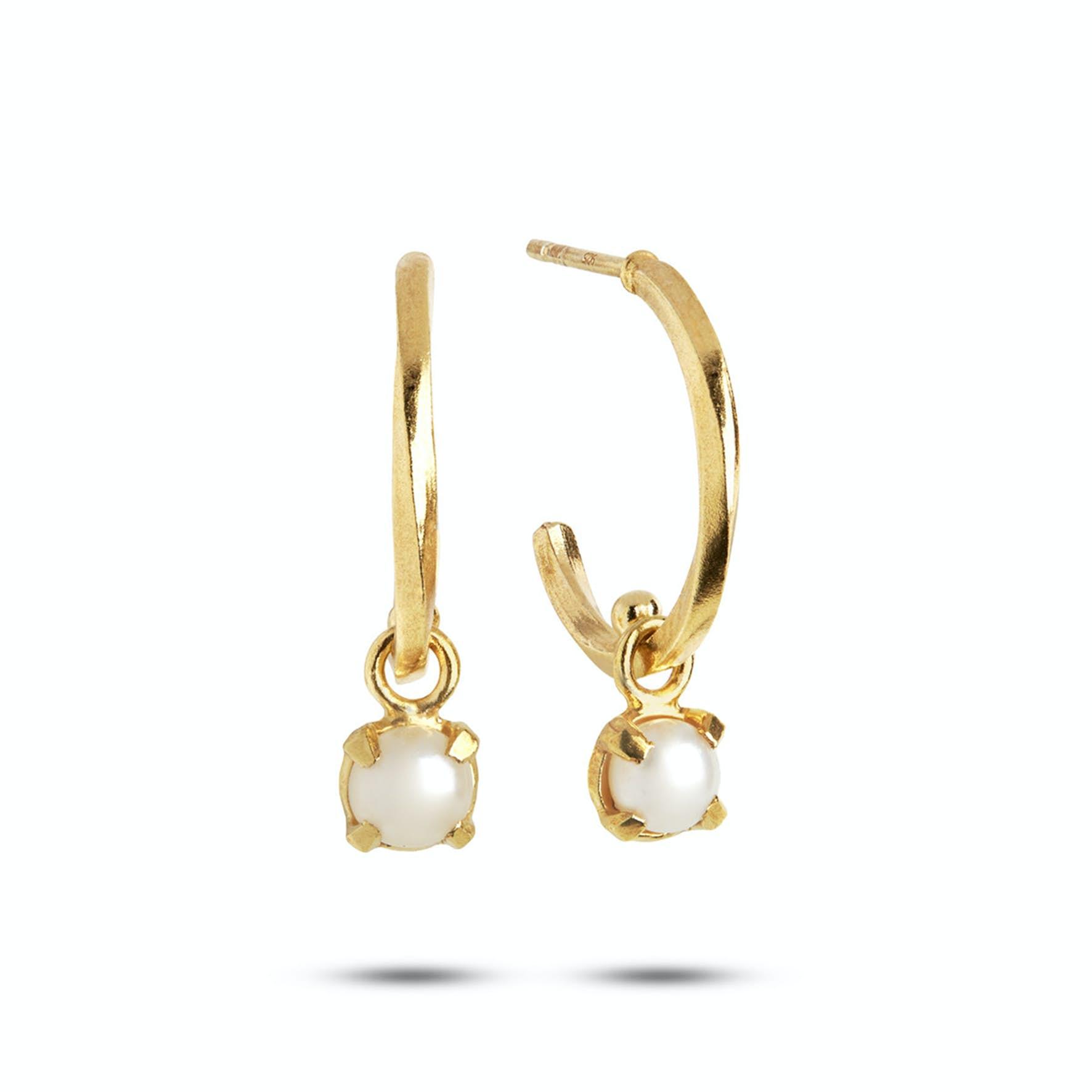 Purity Hoops Pearl von Carré in Vergoldet-Silber Sterling 925|Freshwater Pearl|Blank