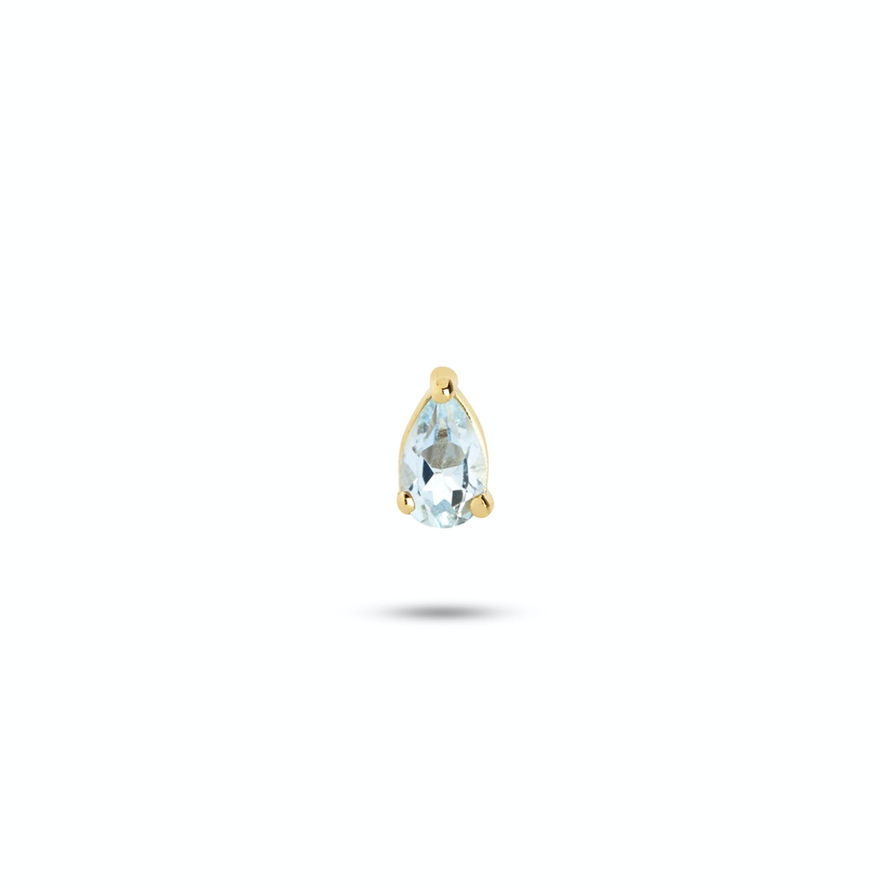 Gem Candy Earstick Aqua from Carré in Goldplated-Silver Sterling 925||Blank