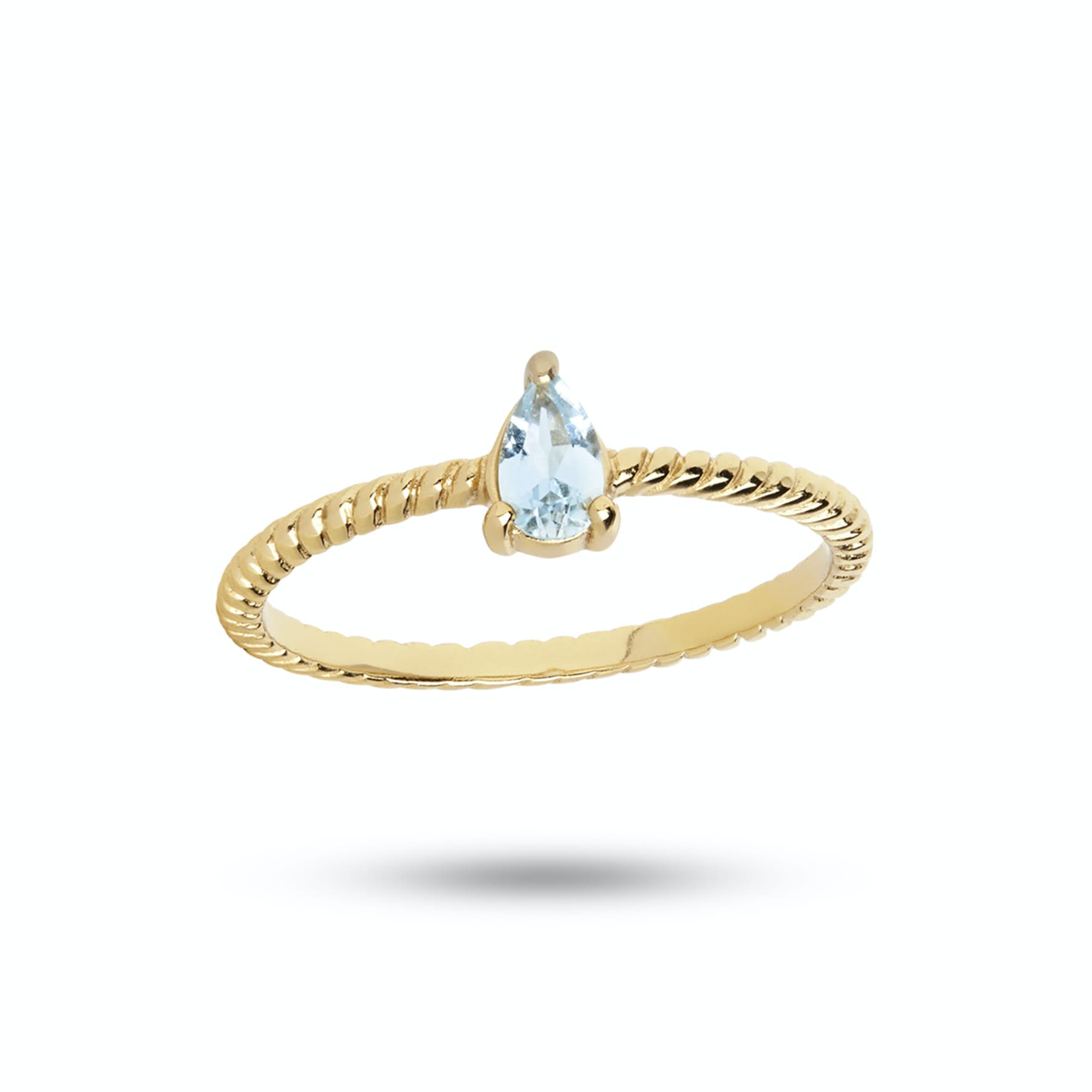 Gem Candy Ring Aqua von Carré in Vergoldet-Silber Sterling 925|