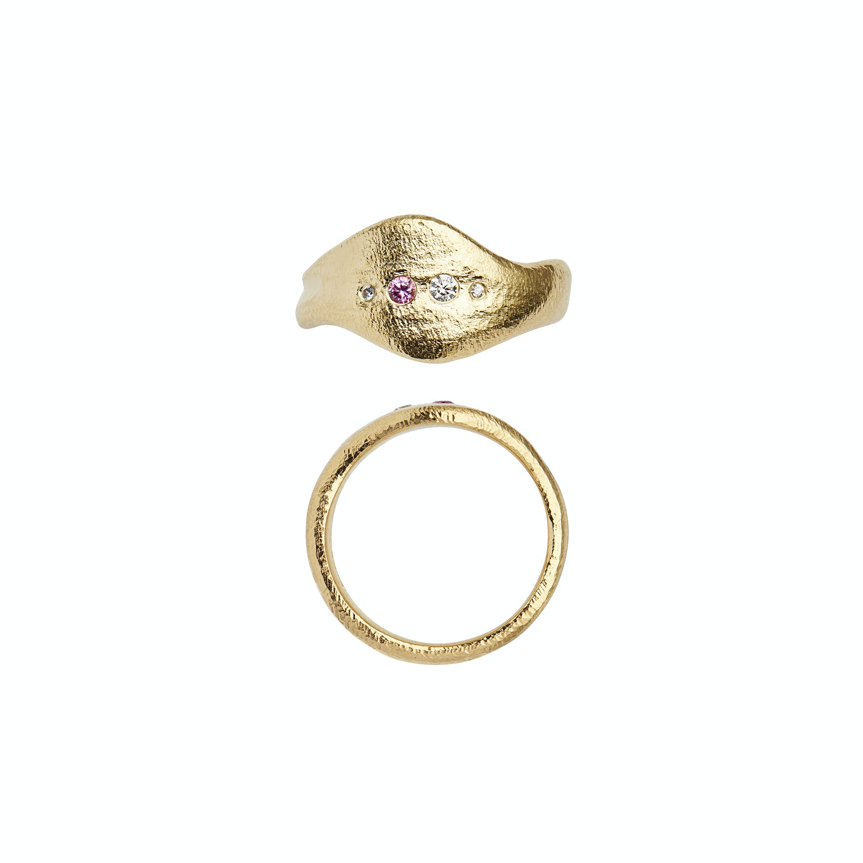 Ile De L'Amour Ring With Stones von STINE A Jewelry in Vergoldet-Silber Sterling 925