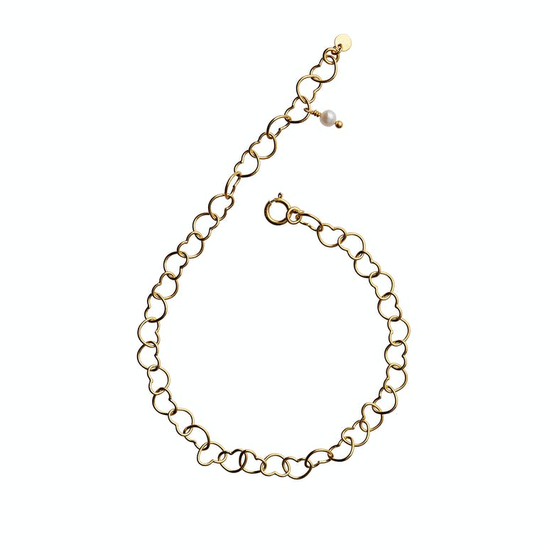 Happy Hearts Bracelet fra STINE A Jewelry i Forgyldt-Sølv Sterling 925
