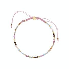 Candyfloss Rainbow Bracelet Mix With Light Pink Ribbon