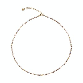 Confetti Pearl Necklace With Beige and Pastel Mix from STINE A Jewelry in Goldplated-Silver Sterling 925