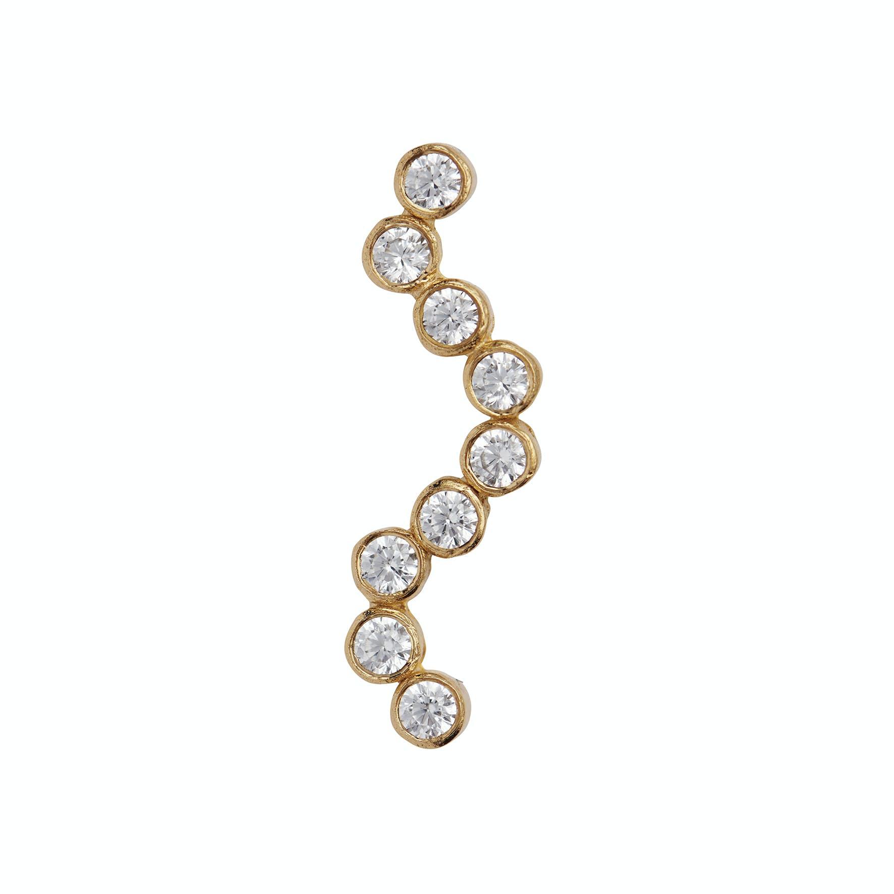 Midnight Sparkle Earring - Right fra STINE A Jewelry i Forgylt-Sølv Sterling 925