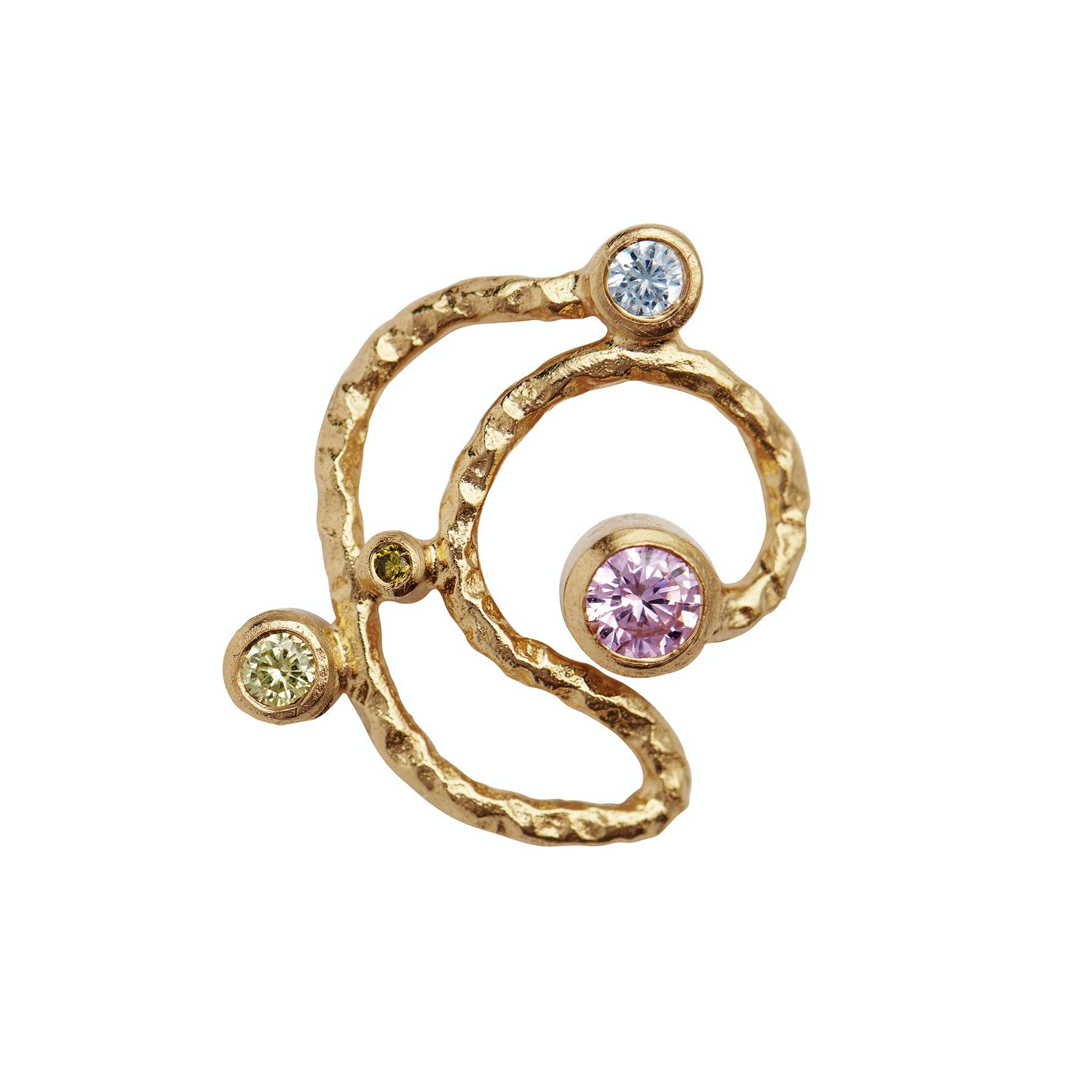 Twirly Candy Dots Earstick von STINE A Jewelry in Vergoldet-Silber Sterling 925