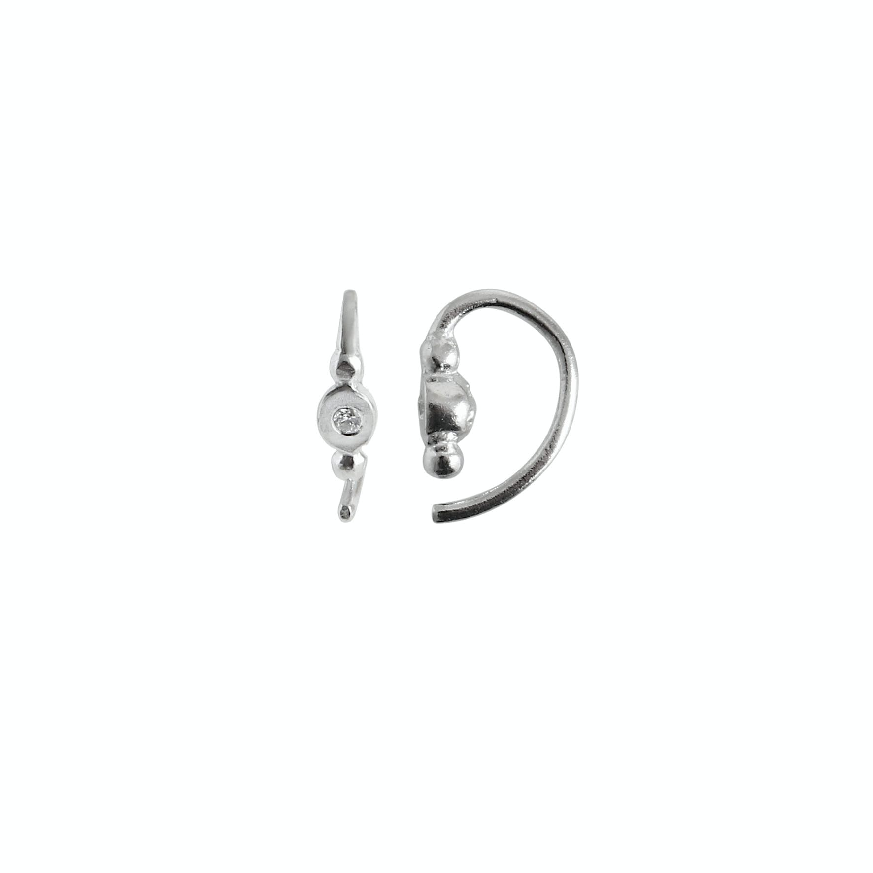 Petit Bon-Bon White Zircon Earring Piece von STINE A Jewelry in Silber Sterling 925