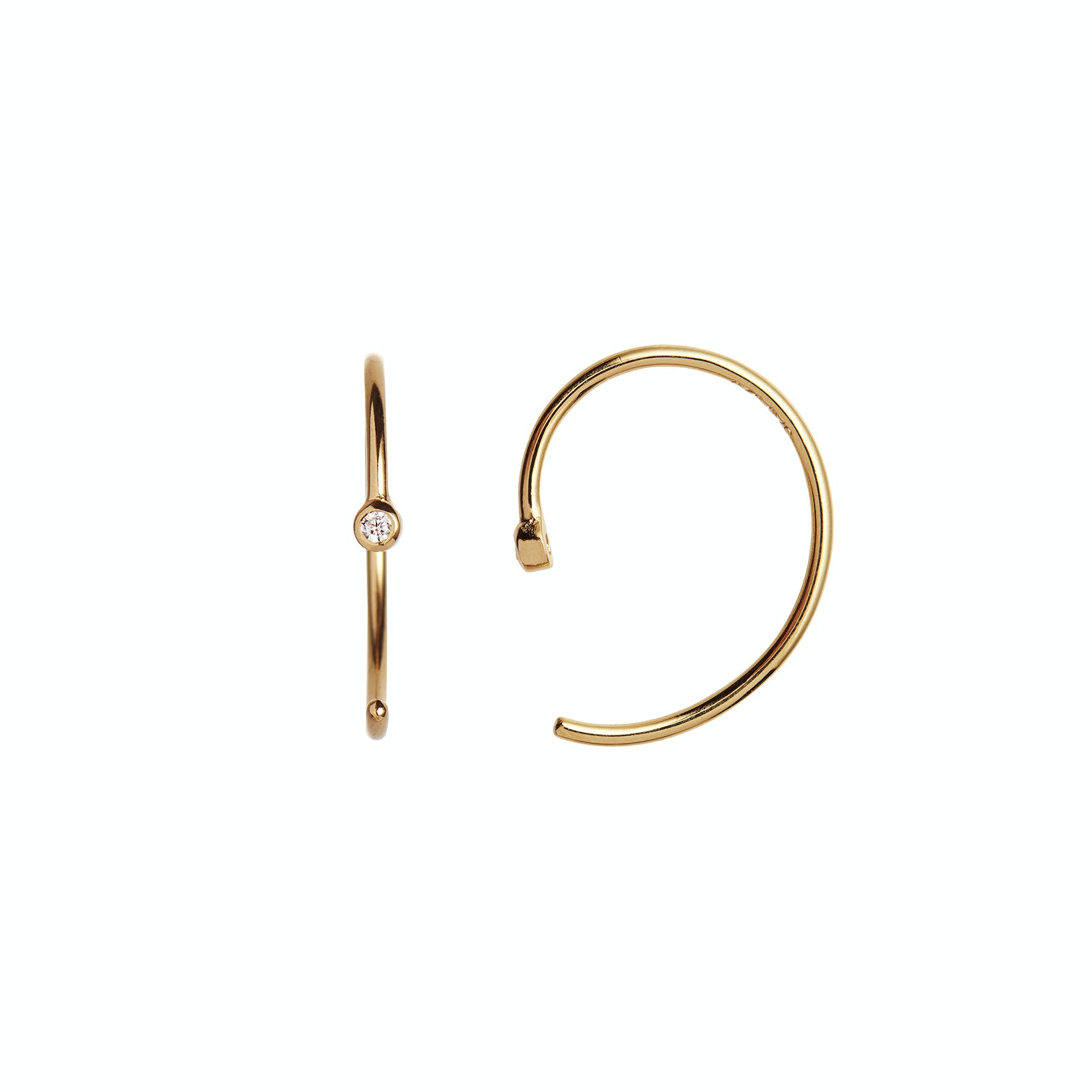 One Dot Open Creol fra STINE A Jewelry i Forgyldt-Sølv Sterling 925|Blank