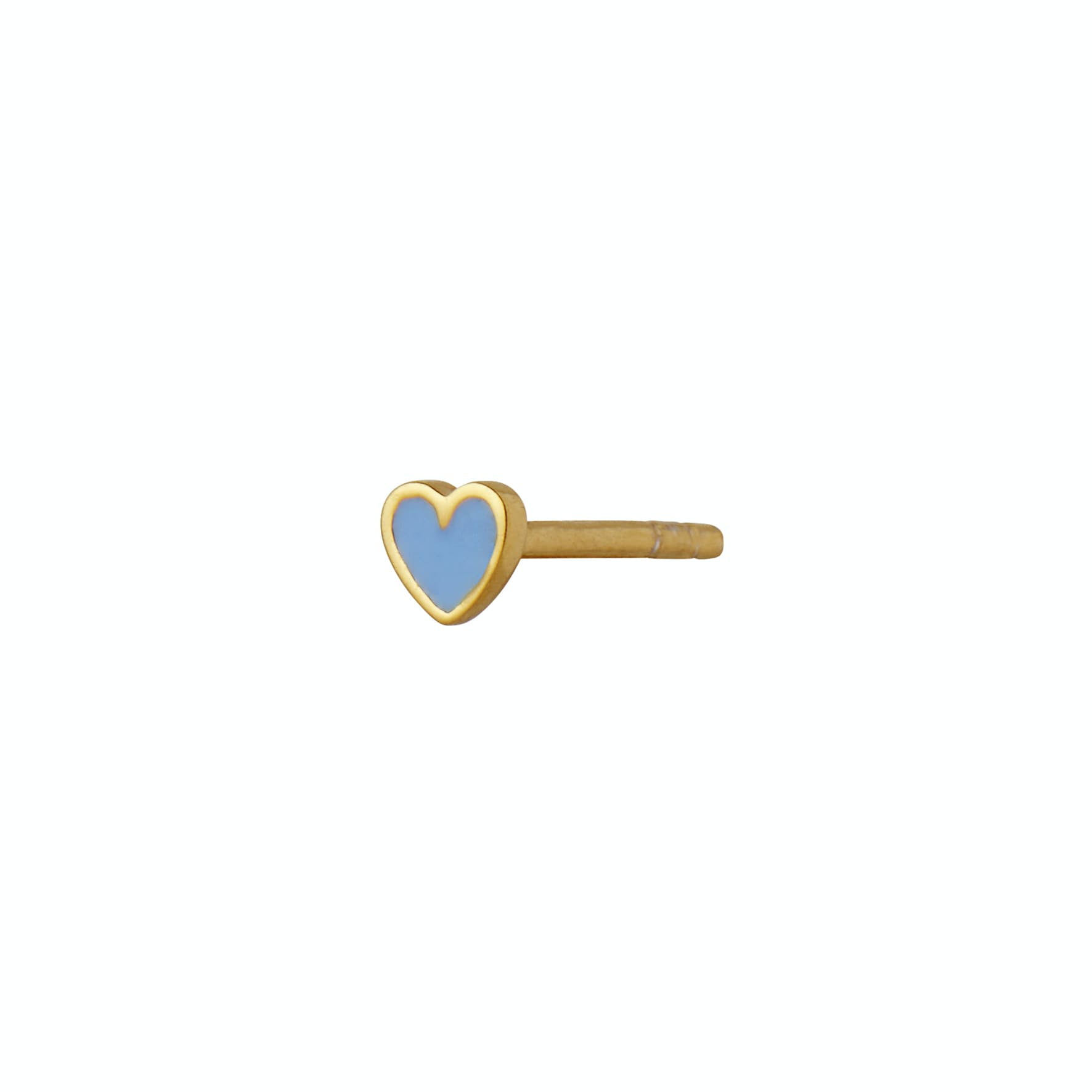 Petit Love Heart Earstick Light Blue fra STINE A Jewelry i Forgyldt-Sølv Sterling 925