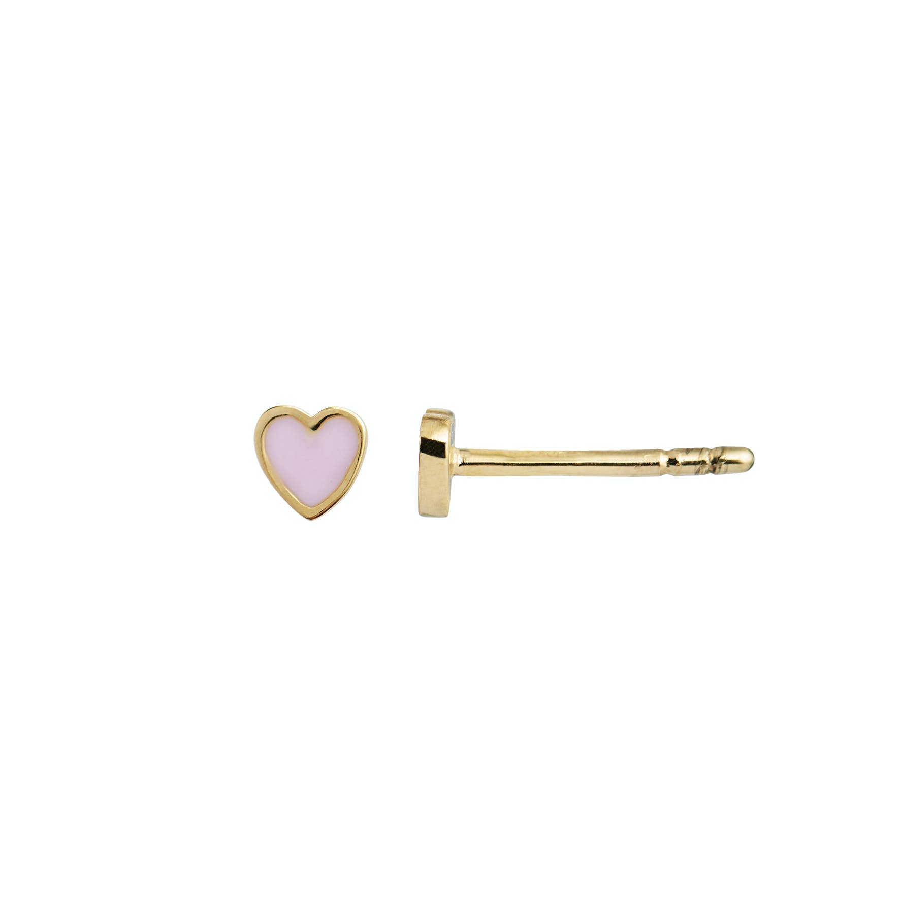 Petit Love Heart Earstick Light Pink from STINE A Jewelry in Goldplated-Silver Sterling 925