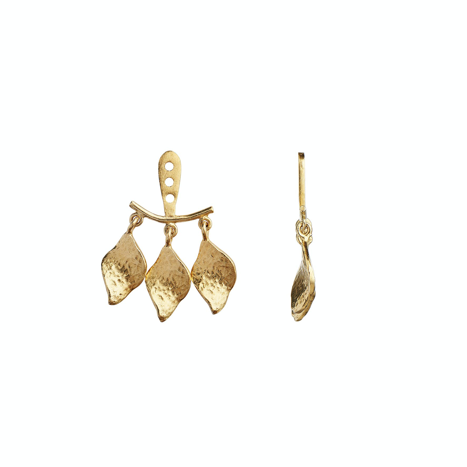 Dancing Three Ile De L'Amour Behind Ear Earring fra STINE A Jewelry i Forgyldt-Sølv Sterling 925