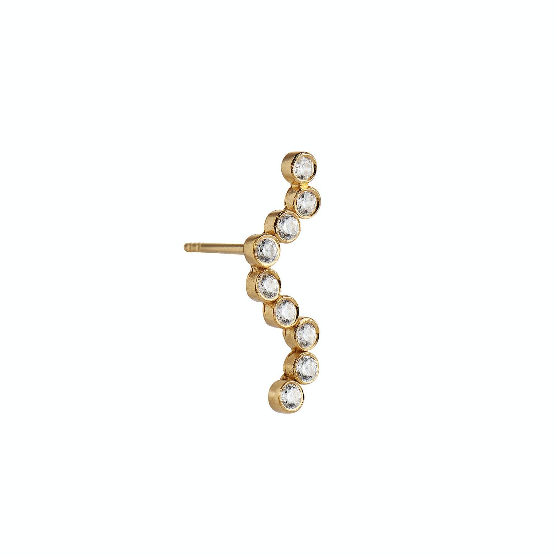 Midnight Sparkle Earring - Left fra STINE A Jewelry i Forgylt-Sølv Sterling 925