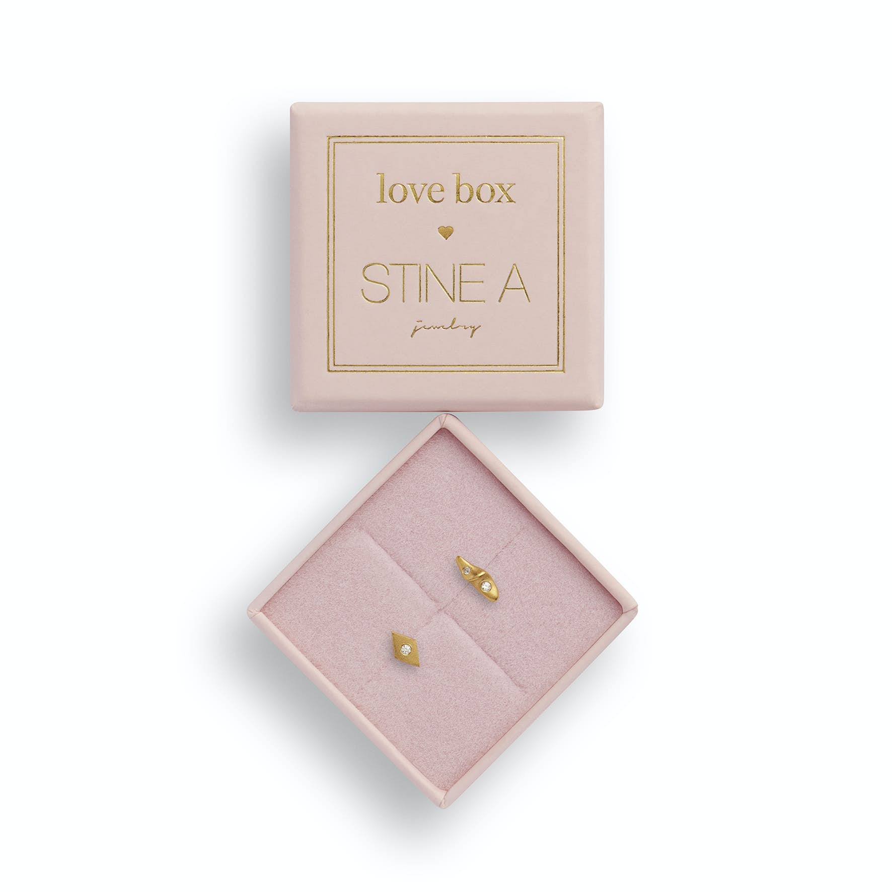 Love Box 84 fra STINE A Jewelry i Forgylt-Sølv Sterling 925