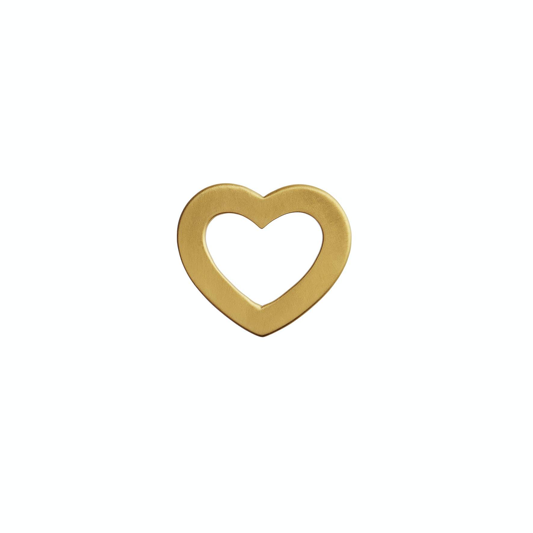 Open Love Heart Pendant von STINE A Jewelry in Vergoldet-Silber Sterling 925