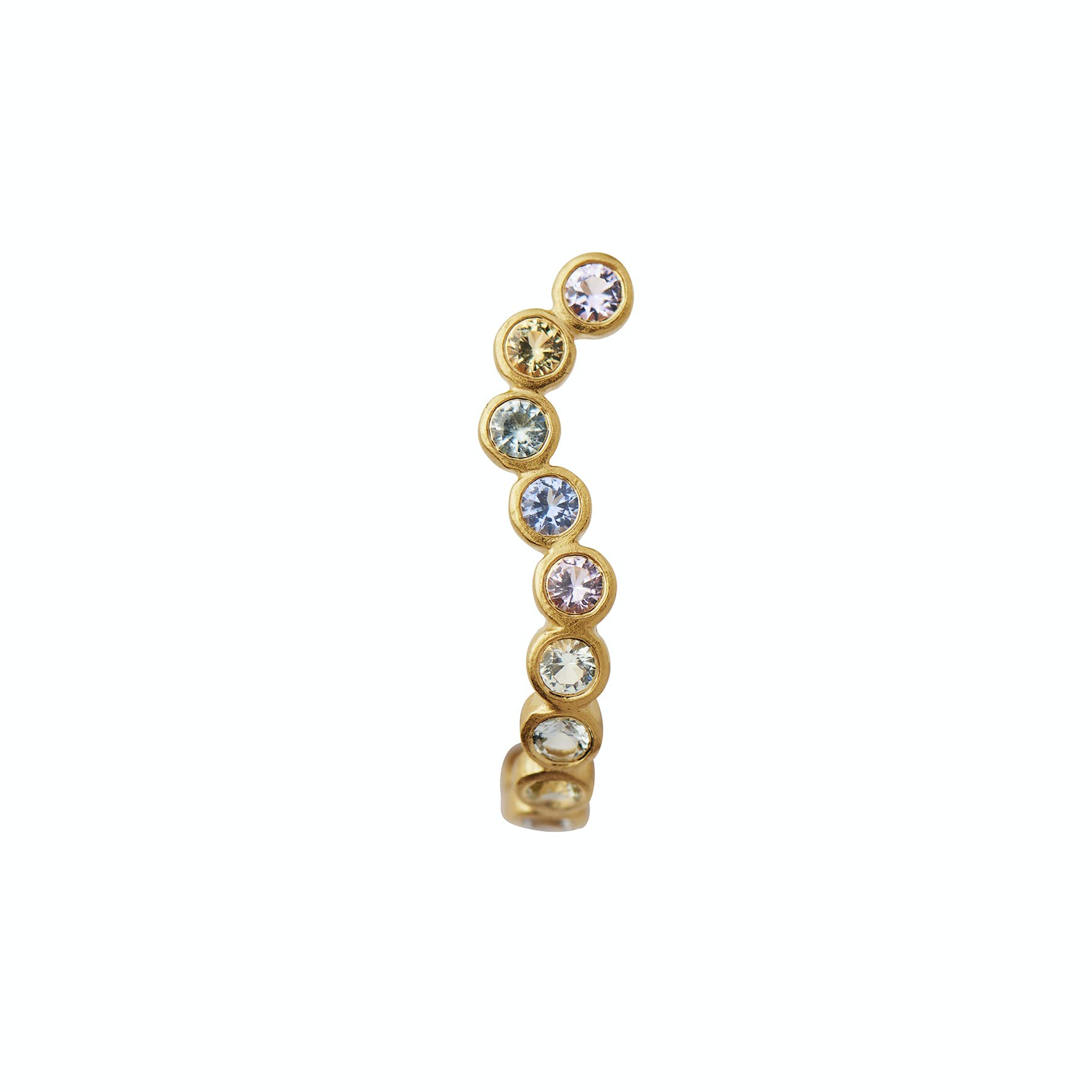 Candy Sparkle Hugging Creol - Left from STINE A Jewelry in Goldplated-Silver Sterling 925