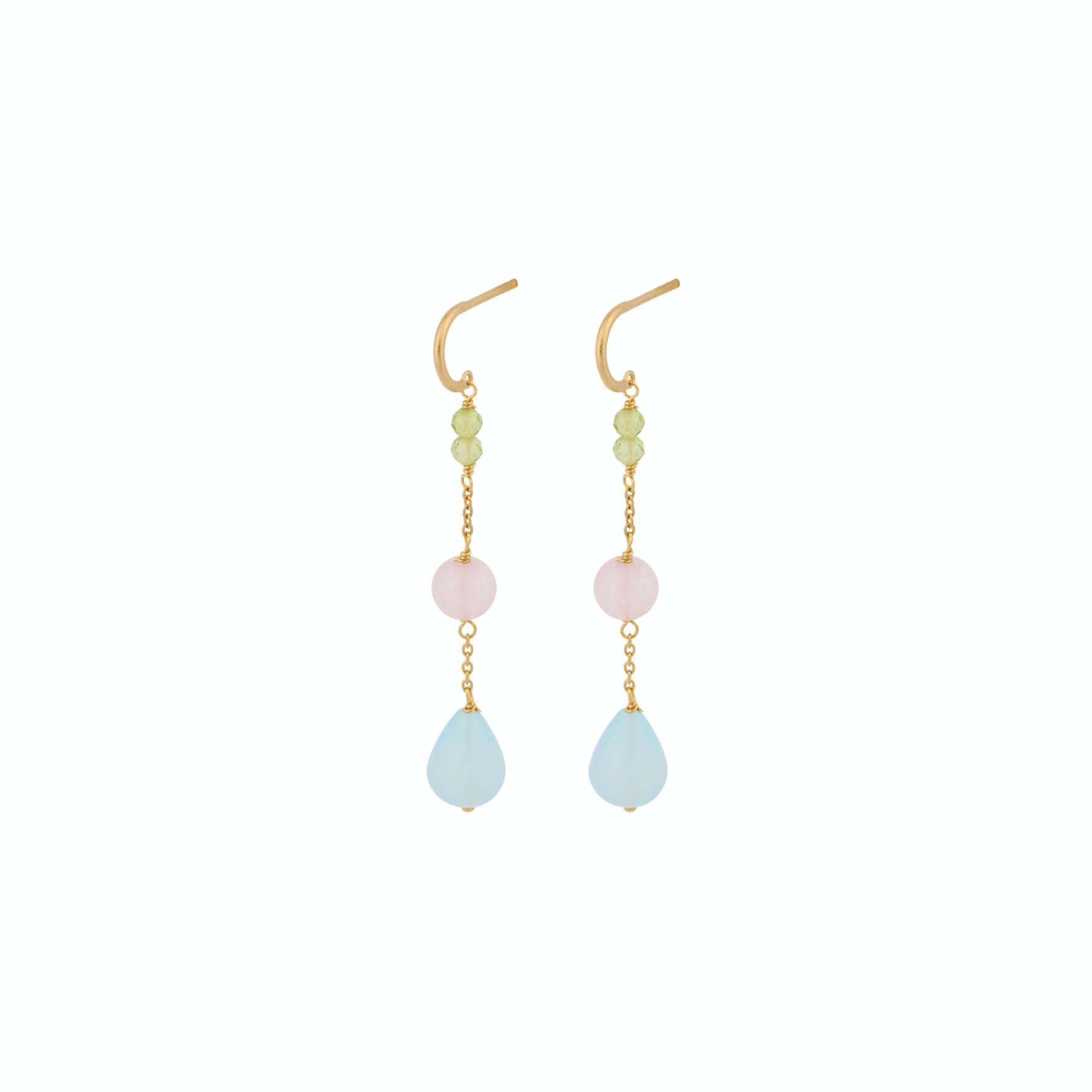 Ocean Shade Earrings von Pernille Corydon in Vergoldet-Silber Sterling 925