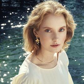 Sea Treasure Earrings from Pernille Corydon in Goldplated-Silver Sterling 925