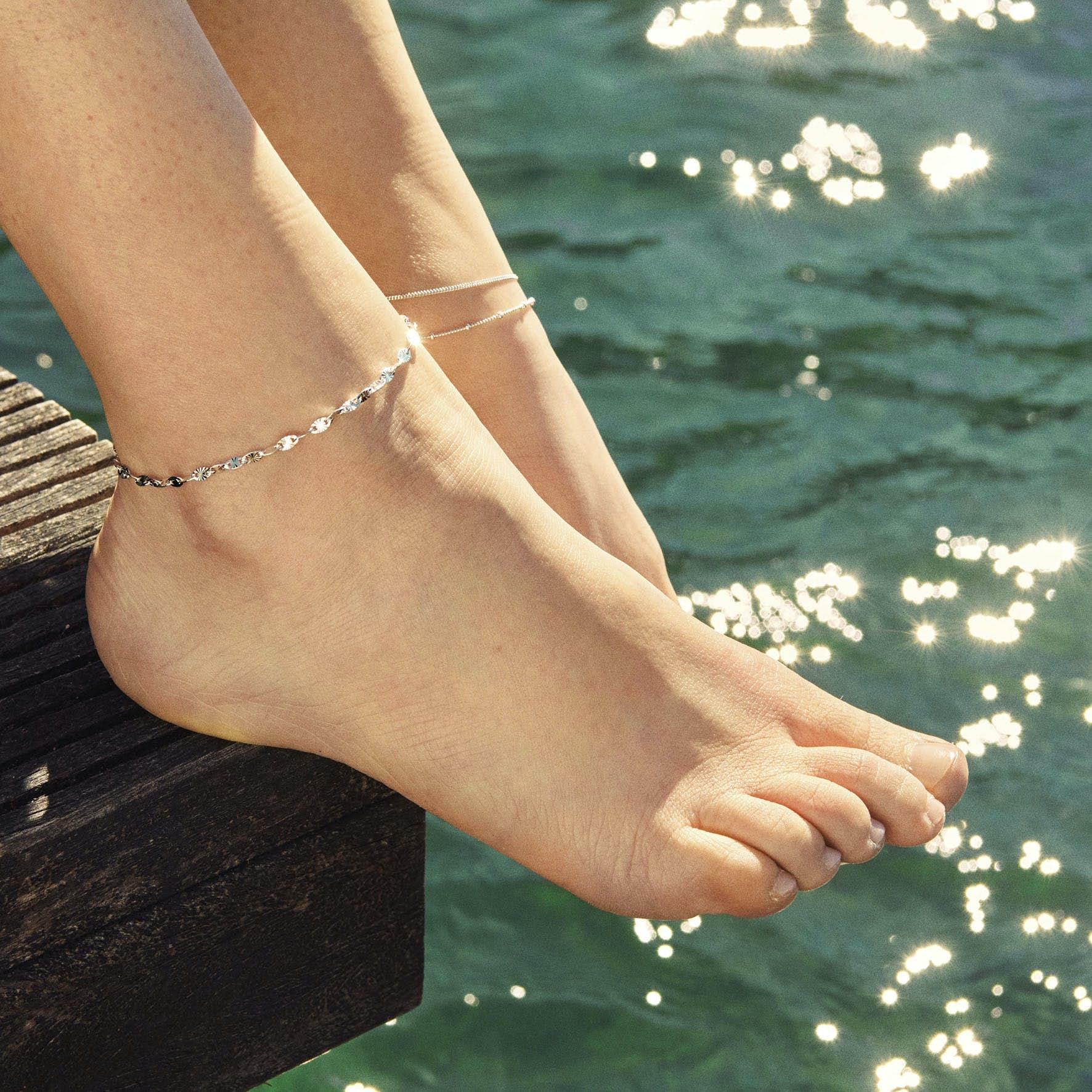 Ocean Stars Anklet fra Pernille Corydon i Sølv Sterling 925