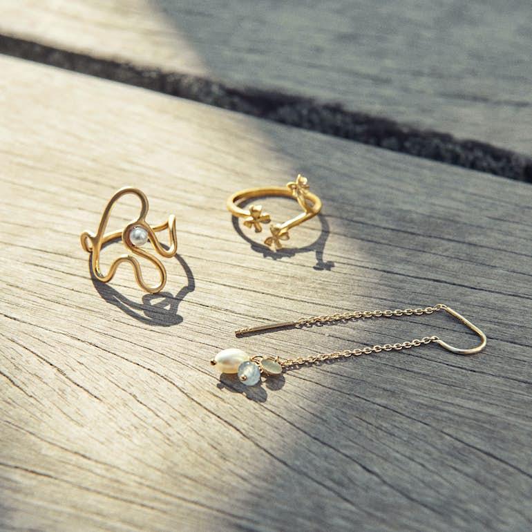Bloom Ring fra Pernille Corydon i Forgyldt-Sølv Sterling 925