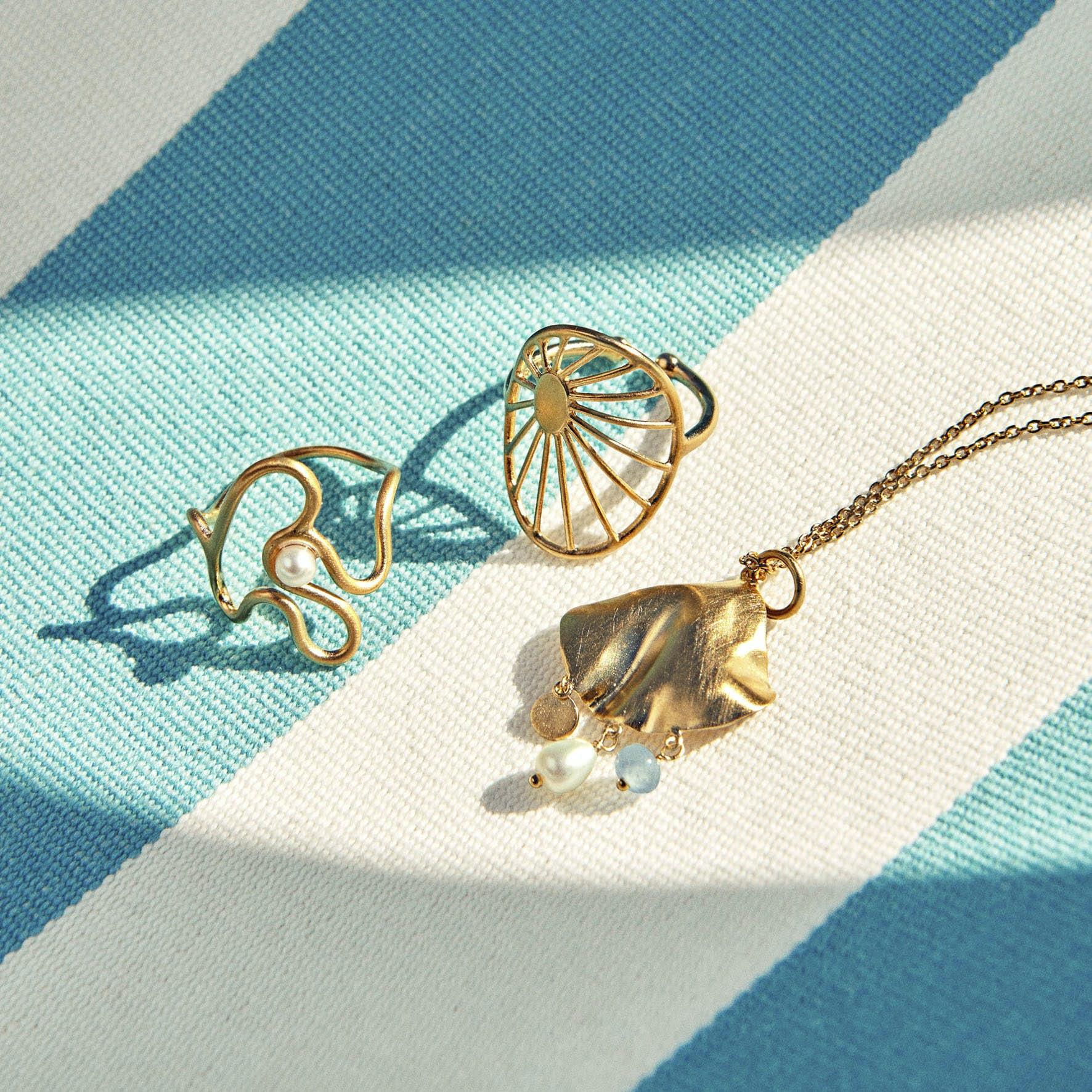 Sea Treasure Necklace von Pernille Corydon in Vergoldet-Silber Sterling 925