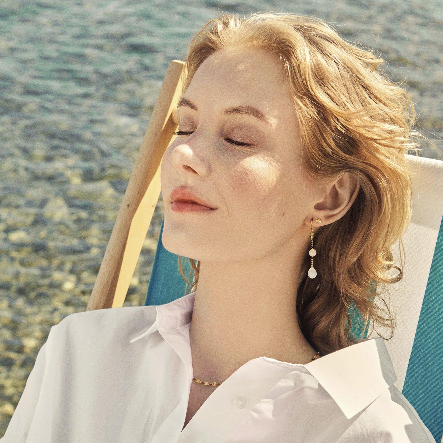 Ocean Shade Earrings fra Pernille Corydon i Sølv Sterling 925