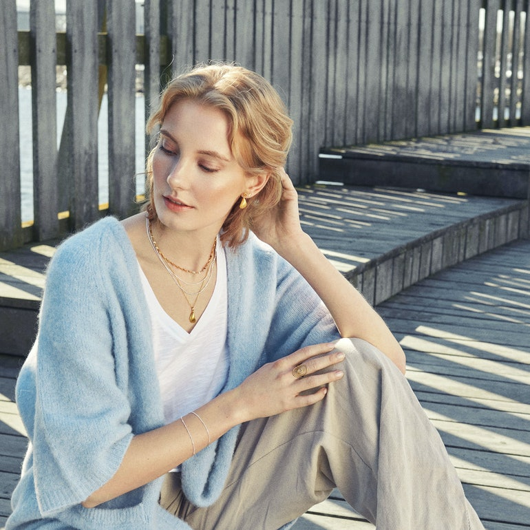 Valentino Sun Necklace von Pernille Corydon in Silber Sterling 925