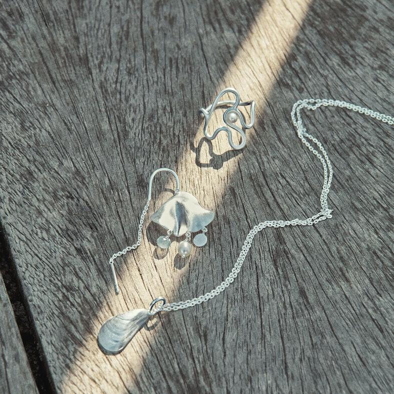 Sea Treasure Earrings fra Pernille Corydon i Sølv Sterling 925