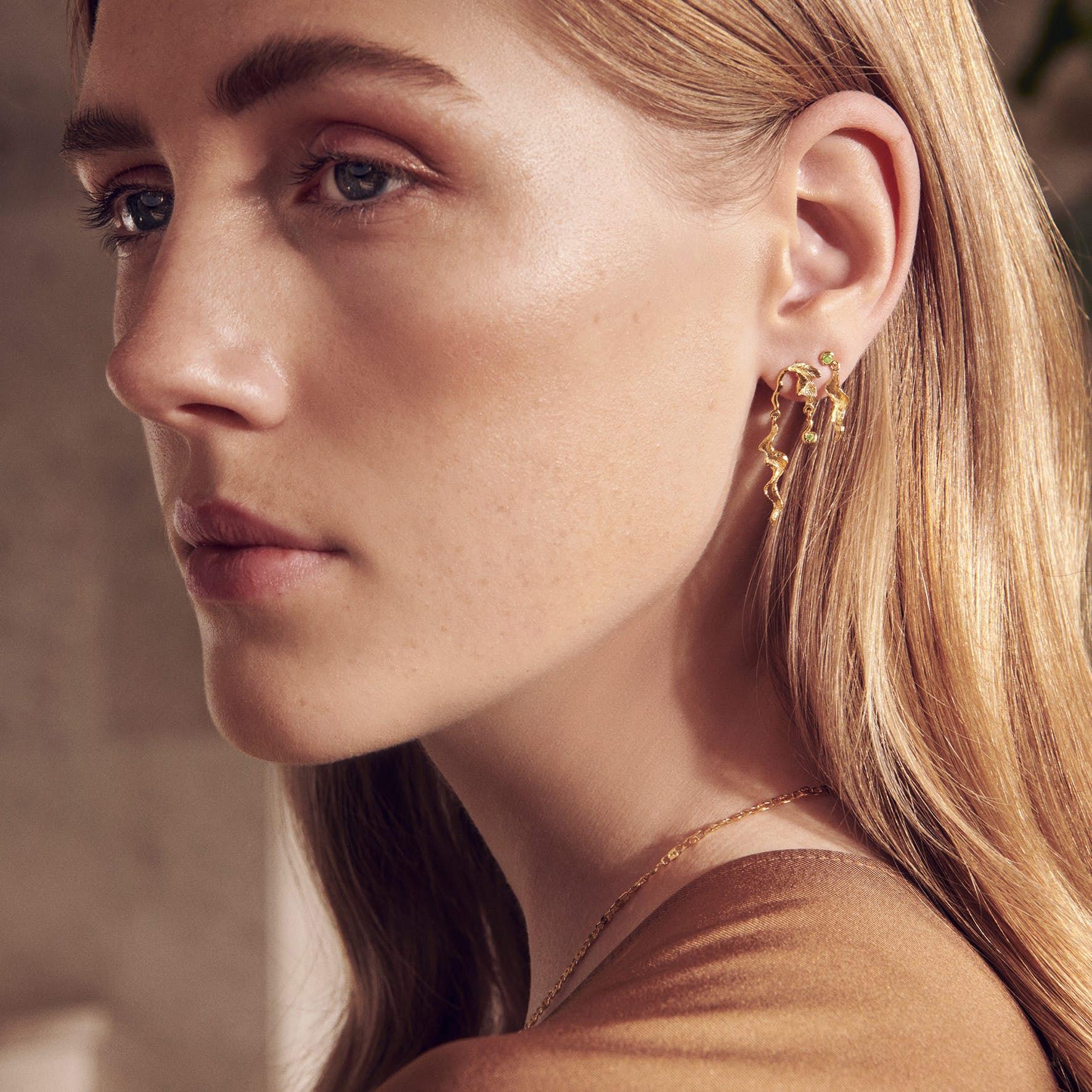 Lida Earrings from Maanesten in Silver Sterling 925
