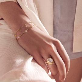 Adina Bracelet från Maanesten i Förgyllt-Silver Sterling 925