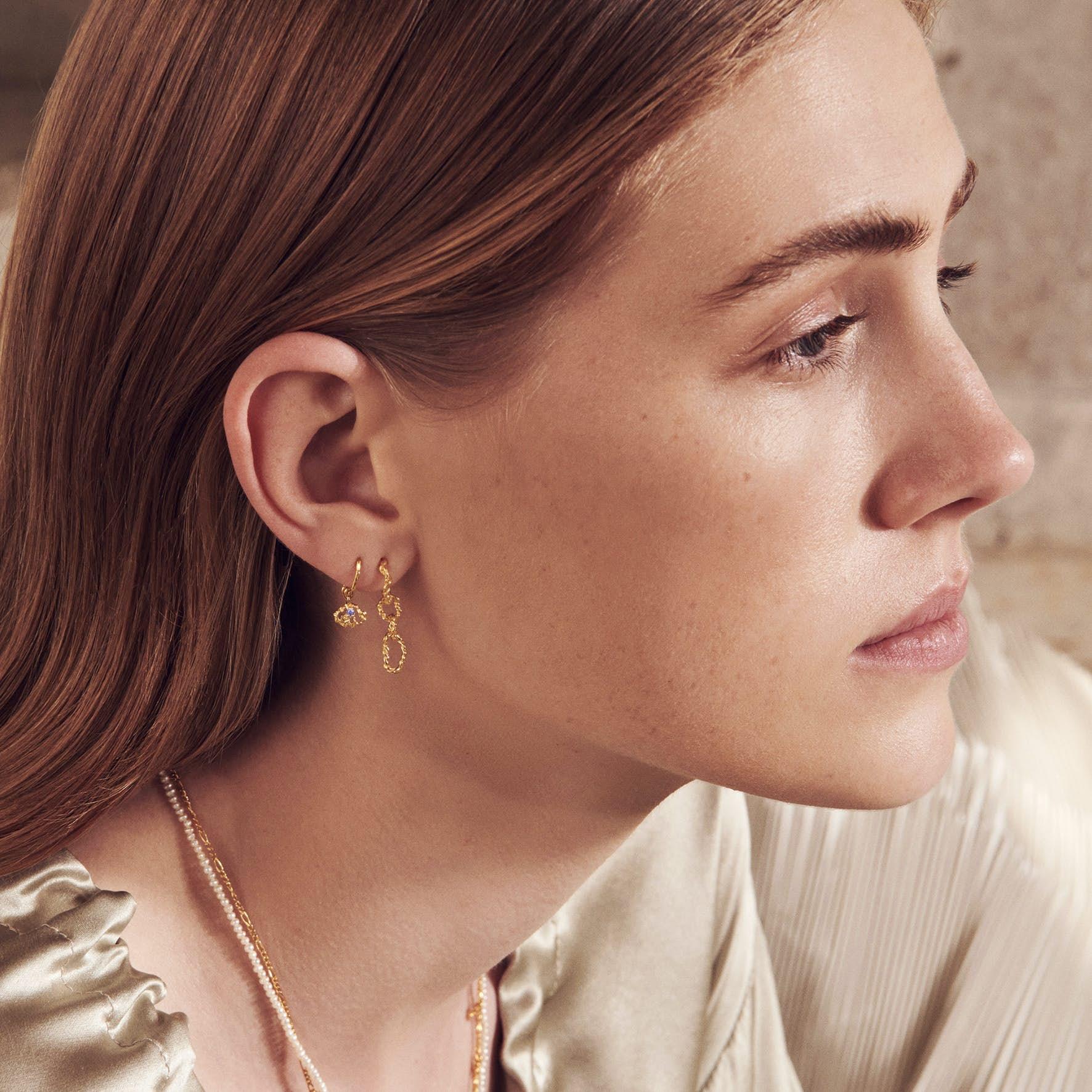 Edda Earrings fra Maanesten i Forgylt-Sølv Sterling 925
