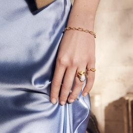 Elah Bracelet fra Maanesten i Forgylt-Sølv Sterling 925