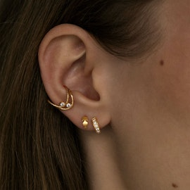 Tres Petit Creol With White Stones Earring aus STINE A Jewelry