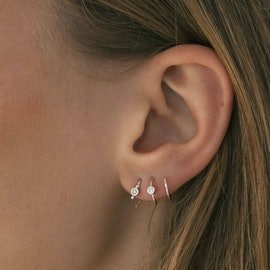 Petit Bon-Bon White Zircon Earring Piece aus STINE A Jewelry