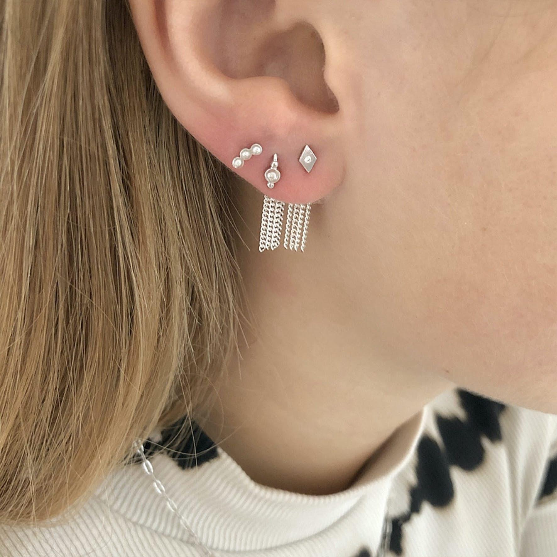 Petit Harlekin Earstick Piece from STINE A Jewelry in Silver Sterling 925