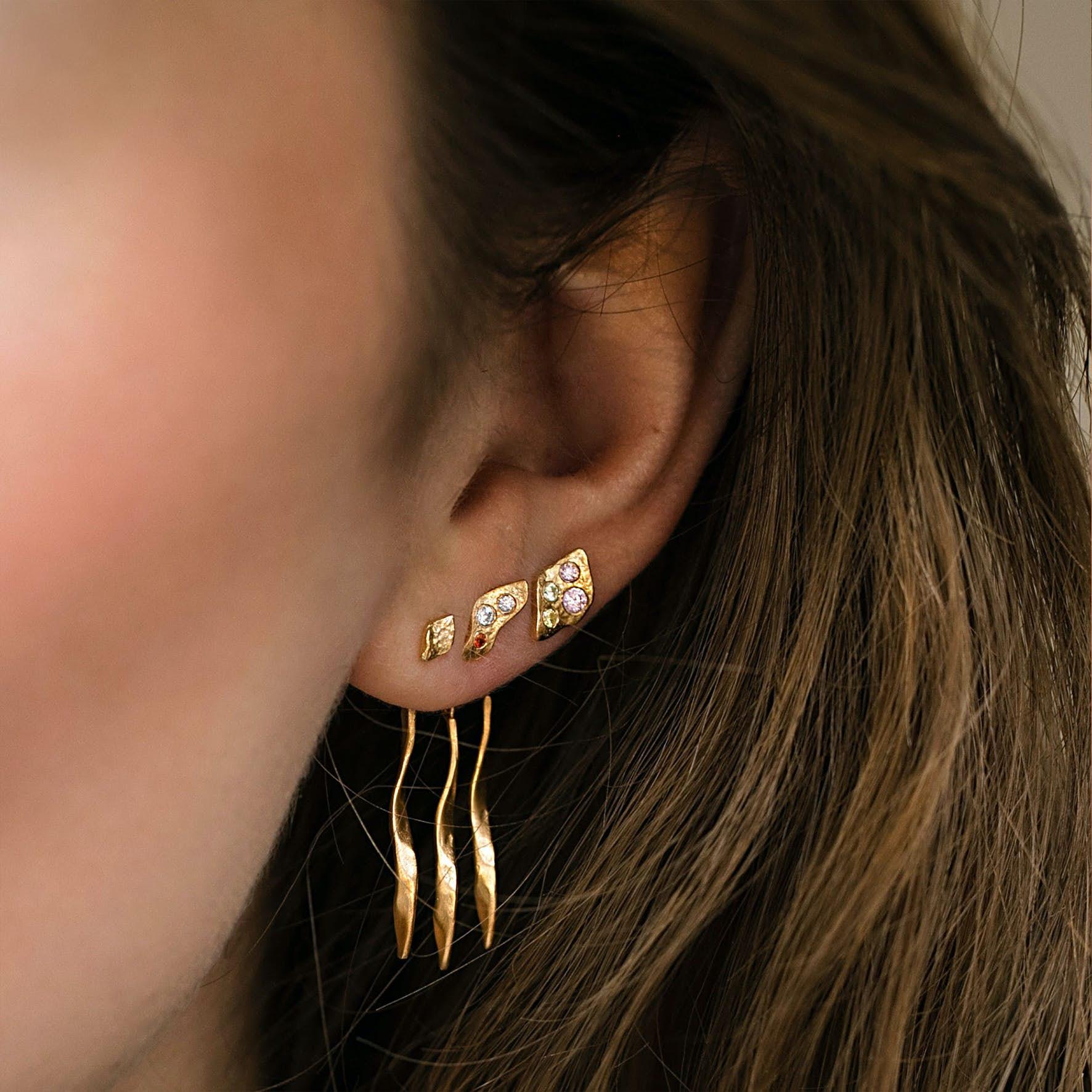 Tout Petit Ile De L'Amour Earstick von STINE A Jewelry in Vergoldet-Silber Sterling 925