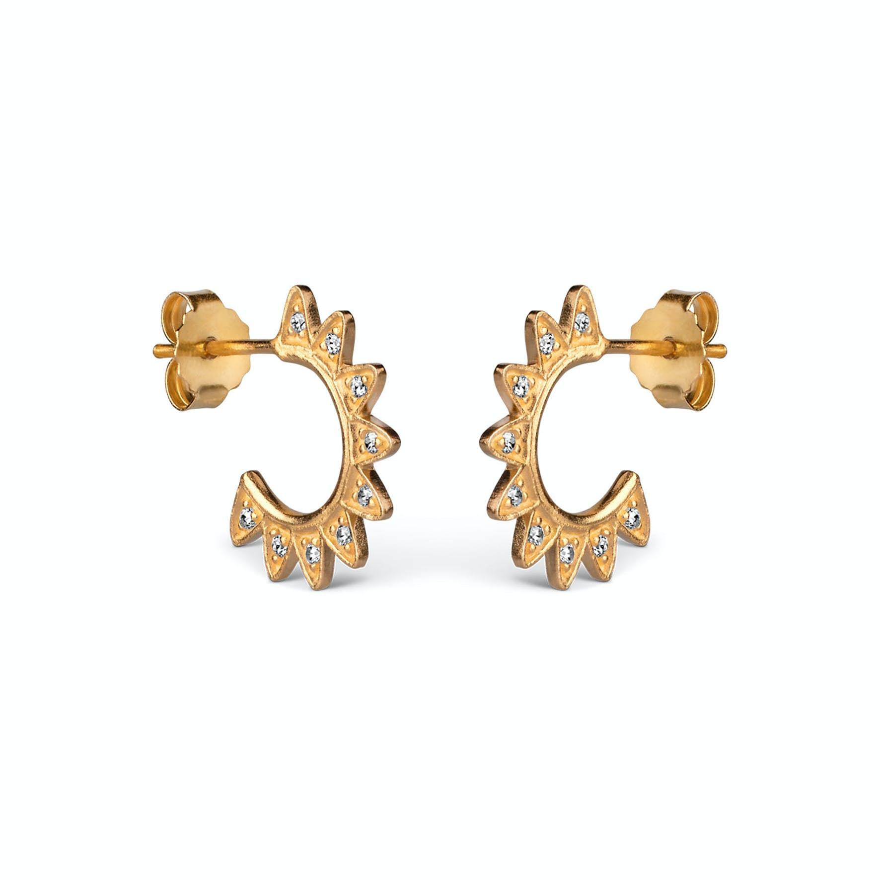 Veda Earrings von Enamel Copenhagen in Vergoldet-Silber Sterling 925